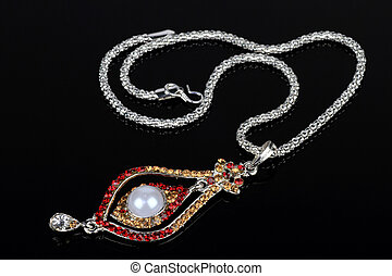 Indian Style Jewelry Set - Necklace and Earrings - Indian...