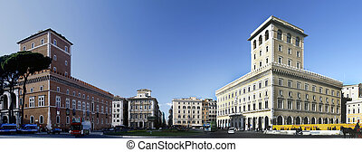 Piazza Venezia - Ground view of Piazza Venezia located in...