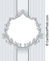 Baroque Vintage Frame - Illustration of a Vintage Frame with...
