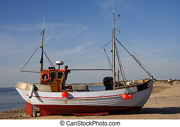 Fishing Boat - Typical Danish fishing boat on the west coast...