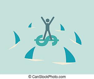 financial risk icon