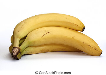 Banana isolated on the white background