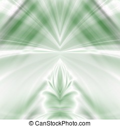 Dreamy Greens Abstract - Surreal blends of white and green -...