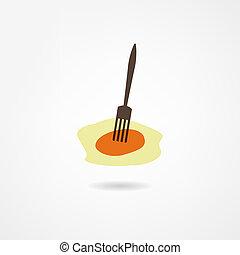 scrambled eggs icon