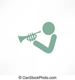 Musician playing trumpet