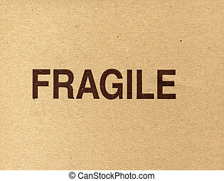 Fragile corrugated