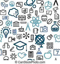 vector background made of  education icons