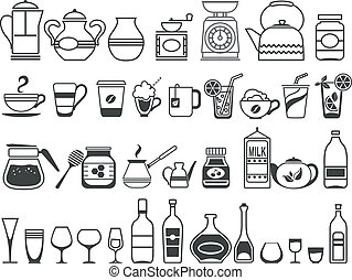 kitchen tools and utensils Vector illustration