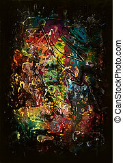 chaos formation - colorful abstract picture painted my me,...