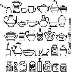 kitchen tools and utensils. Vector illustration
