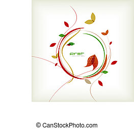 Autumn floral minimal background