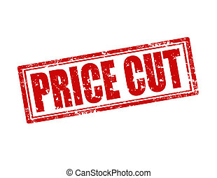 Price Cut-stamp - Grunge rubber stamp with text Price...