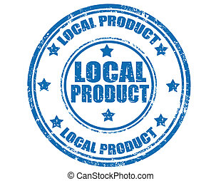 Local product-stamp - Grunge rubber stamp with text Local...
