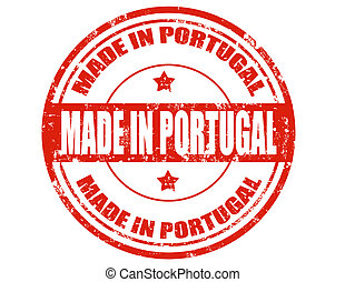 Made in Portugal - Grunge rubber stamp with text Made in...