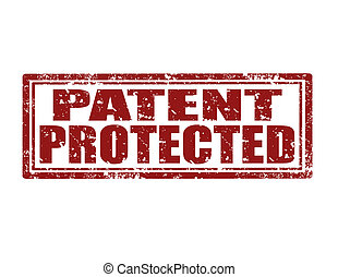 Patent Protected-stamp - Grunge rubber stamp with text...