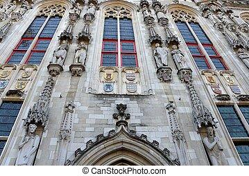 Old historical building in Bruges.