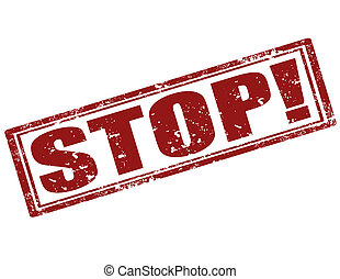Stop-stamp - Grunge rubber stamp with word Stop,vector...