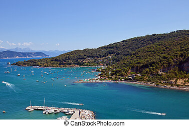 Gulf of Poets and Palmaria Island UNESCO site, Italy - View...