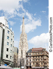 Stephansdom, Wien - View of Stephansdom churh in Wien,...