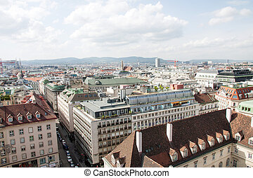 Wien, aerial view - Aerial view of the dowtown of Wien,...