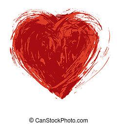 Grunge heart - Hand drawn grunge heart