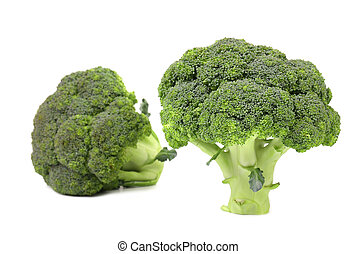 Healthy brocoli. Isolated on a white background.
