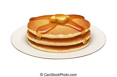 Pancakes isolated on a white background
