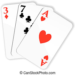 Playing cards. Vector illustration - Vector illustration...