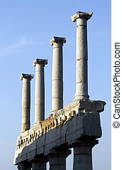 Pompeii archeological ruins - View of the ruins of the...