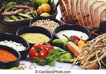 foods  - isolated backgroun on the foods