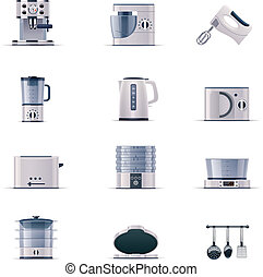 Vector domestic appliances set. P.2