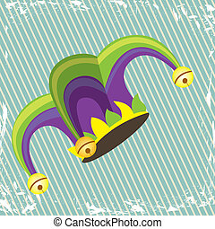 jester design over lineal background vector illustration