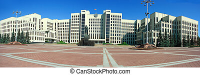 Palace of government in Minsk - Minsk government palace with...