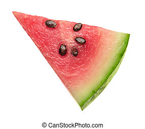 Watermelon Wedge isolated on a white background