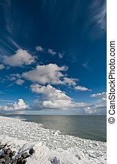 Winter landscape - Frozen winter landscape in the...