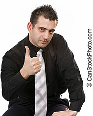 All right partner - Businessman showing all right sign
