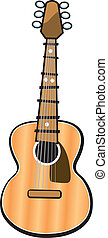 Acoustic Guitar - A vector illustration of an acoustic...