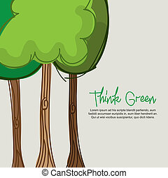 think green design over beige background vector illustration...