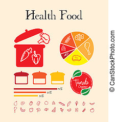 health food design over pink background vector illustration...