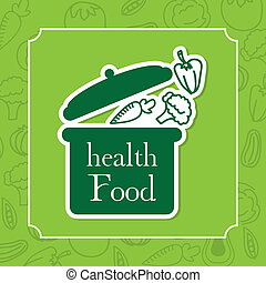 healthy food design over green background vector...