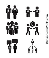human resources over white background vector illustration