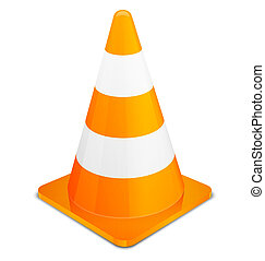 Traffic Cone isolated on white background Vector...