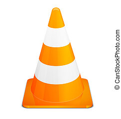 Traffic Cones isolated on white background Vector...