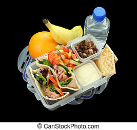 Healthy Childrens Lunch Box - Healthy kids lunch box made up...
