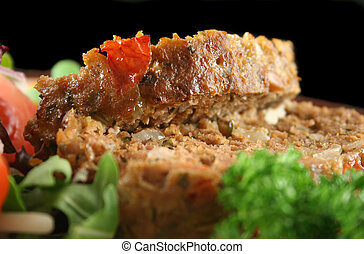 Meatloaf And Vegetables 3 - Homestyle lamb meatloaf with...