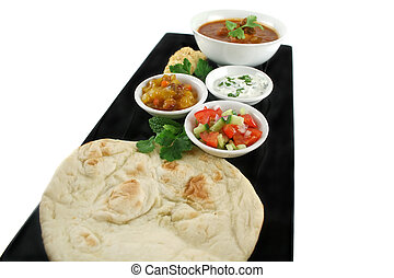 Feast Of Indian Food - Indian feast of vindaloo curry, naan...