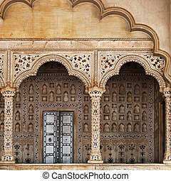 Fragments of traditional Indian architecture. Agra