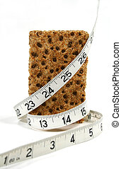 Low Calorie Cracker - Low calorie rye cracker wrapped in a...