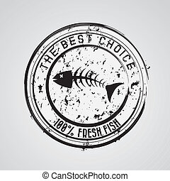 sea food design over gray background vector illustration