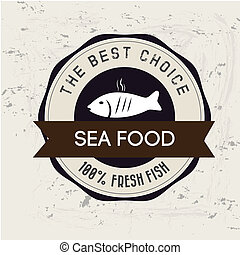 sea food design over white background vector illustration